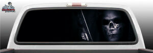 Skull Sniper Reaper Death Perforated Rear Window Graphic Decal Suv Truck Car