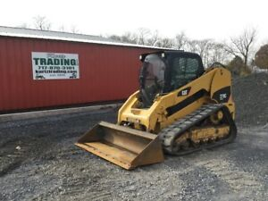2011 Caterpillar 279c Tracked Skid Steer Loader W Cab 2 Speed