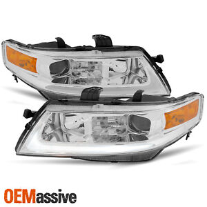 Fits 2004 2005 2006 2007 2008 Acura Tsx Led Bar Projector Headlights Headlamps
