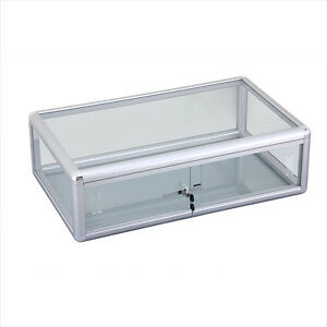 Glass Counter Top Display Case 30 X 9 W Lock Silver Finish New York Pickup