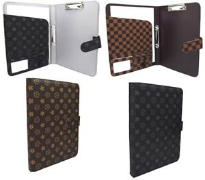 Premium A4 Conference Folder Faux Leather Portfolio Organiser Ring Binder