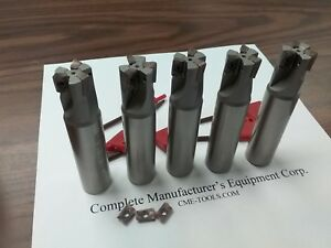 5pcs 90 Degree Indexable End Mill 3 4 x3 1 2 3 Inserts Sandvik R390 506 sdvk