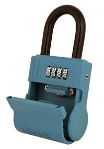 Shurlok Sl 600w 4 Dial Numbered Key Storage Combination Lock Box Blue
