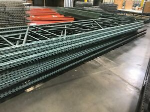 Heavy Duty Tear Drop Uprights pallet Racking 54 w X 216 h 18