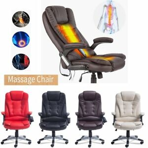 Home Office Massage Chair Executive Ergonomic Heated Vibrating Computer Desk