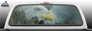 Bald Eagle Scenic Mountain Perf Rear Window Graphic Decal Suv Truck Car