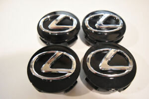 4x New Black Wheel Center Hub Cap 62mm Es300 Is300 Is250 Is350 For 92 14 Lexus