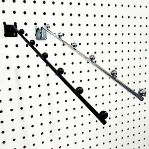 Pegboard 6 Ball Waterfall Faceout Hook Black Or Chrome Wholesale