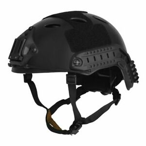 Lancer Tactical CA 725B FAST Airsoft Helmet PJ Type w Side Rails NVG Mount $46.95