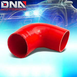 2 5 To 3 90 degree Elbow Transition Reducer 3 ply Red Silicone Hose Coupler