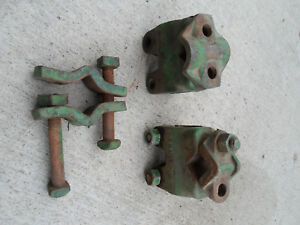 Lot Of Vintage Antique John Deere Tractor C48n Clamps Bracket Pipe Clamp Parts