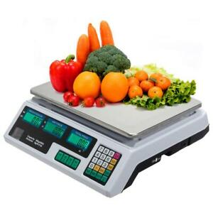 88lb Digital Weight Scale Price Computing Retail Food Meat Scales 40kg Us Plug