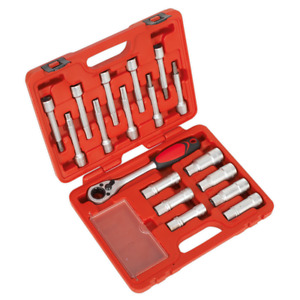 Brand New Shock Absorber Strut Tool Kit 18pce With Ratchet And Sockets