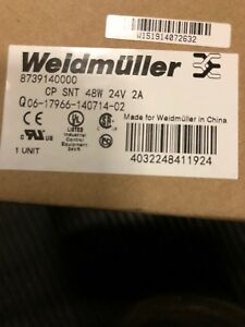 Brand New Weidmuller Power Supply 8739140000 Cp Snt 48w 24v 2a