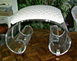 Hill Manufacturing Fabulous Vintage Lucite Bench Art Deco Or Hollywood Regency