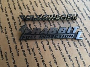 Volkswagen Rabbit L Fuel Injection Hatch Emblem Badge Vw Rabbit Mk1