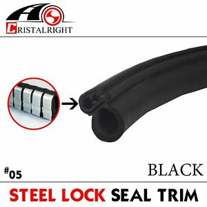 24ft Rubber Seal Edge Trim Auto Embellish Lock Hood Engine Protect Weatherstrip
