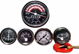 David Brown Tractor Tachometer Tempe Oil Pressure Ammeter Fuel Gaugedavid Brown