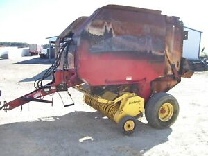 New Holland 740 Round Baler Hay Rd Rake Bale Net Wrap Silage Special