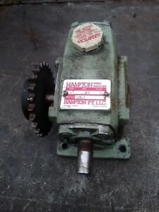 Hampton Speed Reducer20 To 1 Gear Ratiosize 50