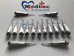 15 Dental Elevators Extraction Surgical Instruments New Mti