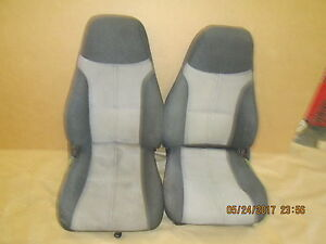 93 95 Camaro Z28 Graphite gray Cloth Seat Seats Set 0525 20