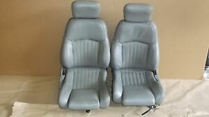93 95 Firebird Formula Light Gray Leather Seat Seats Set 0812 2