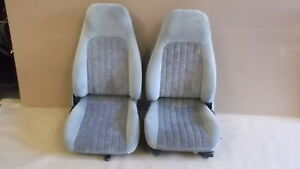 00 02 Camaro Rs Ss Z28 Pewter Cloth Seat Seats Set 1021 1