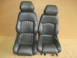 96 Trans Am Graphite Leather Seat Seats Set 0512 1