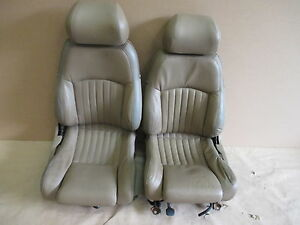 93 95 Firebird Trans Am Tan Leather Seat Seats Set 0512 9