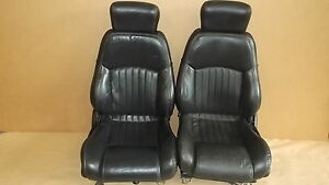 00 02 Trans Am Ebony Leather Seat Seats Set 0616 7