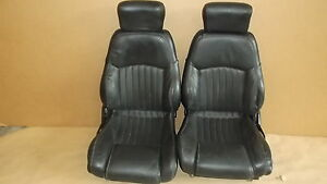 00 02 Trans Am Ebony Leather Seat Seats Set 0616 8