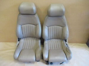 93 95 Firebird Trans Am Tan Leather Seat Seats Set 0330 2