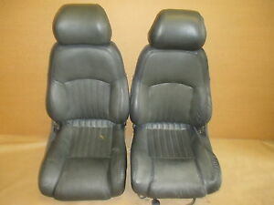 96 Trans Am Graphite Leather Seat Seats Set 0330 8