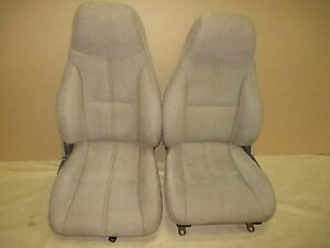 93 95 Camaro Rs Ss Z28 Coupe Tan Cloth Seat Seats Set 0303 7