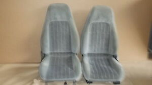 00 02 Camaro Rs Ss Z28 Pewter Cloth Seat Seats Set 1001 22