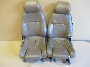 93 95 Firebird Trans Am Tan Leather Seat Seats Front Set 1121 17