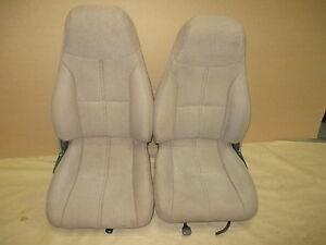 93 95 Camaro Rs Ss Z28 Coupe Tan Cloth Seat Seats Set 0303 9