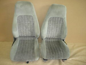 00 02 Camaro Rs Ss Z28 Pewter Cloth Seat Seats Set 0317 13