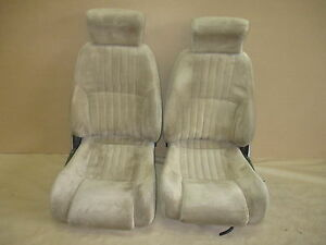 93 95 Firebird Trans Am Tan Cloth Seat Seats Set 0317 12
