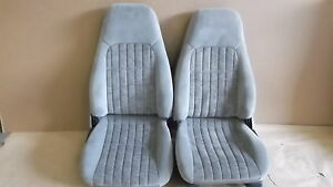 00 02 Camaro Rs Ss Z28 Pewter Cloth Seat Seats Set 1015 3