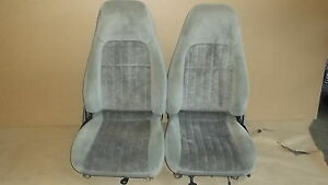 00 02 Camaro Rs Ss Z28 Pewter Cloth Seat Seats Set 1106 17