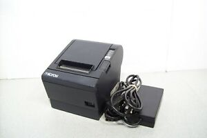 Epson Micros Tm t88iii M129c Thermal Kitchen Serial Printer W Power Supply
