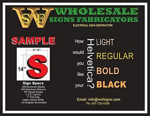 Led Illuminated Channel Letters Signs For Your Business store 14 h
