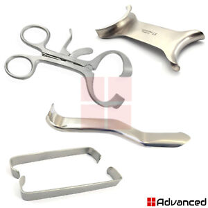 4 Pcs Minnesota Retractor Mouth Opener Molt Gag Farabeuf Cheek Lip Retractor