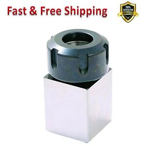 Square Collet Block Heavy Duty Hardened Steel Tool Cnc Machines Accessory New