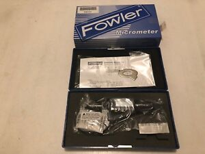 Fowler Electronic Ip54 Ball anvil Spindle Tube Lcd Micrometer 0 1 0 25mm