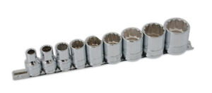 Whitworth Ww Socket Set 12 Point Double Cut 1 2 Drive 1 8 To 5 8
