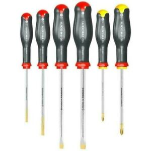 Facom Tools Pro Protwist 6 Piece Screwdriver Set Slotted Phillips Set