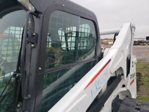 Bobcat T870 Left Cab Sliding Window With Frame Oem 7148069